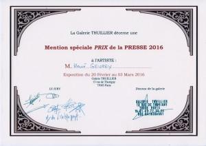 Prix de la Presse 2016